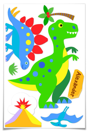 Dinosaur T-Rex Jumbo Wall Mural - Personalized Peel & Stick Giant Decal
