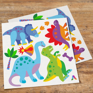 Dinosaurs Wall Decals Peel & Stick Stickers - Brontosaur T-Rex Triceratops