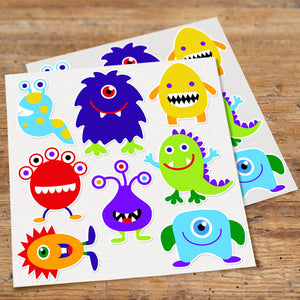 Funny Monsters Kids Wall Decals Peel & Stick Stickers