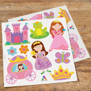 Pretty Princess Wall Decals Peel & Stick Stickers - Carriage Castle Crown