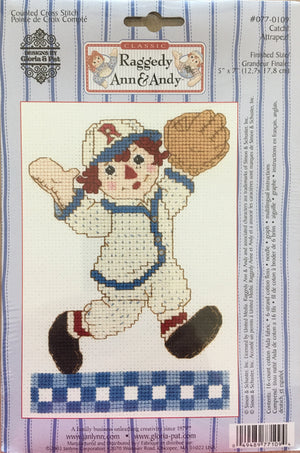 Classic Raggedy Ann & Andy Cross Stitch Kits - Baseball