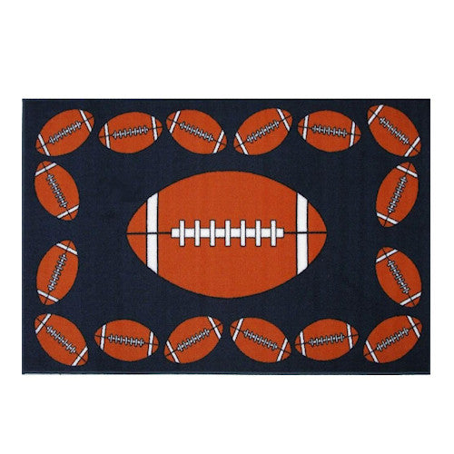 "Football Rectangle Sports Rugs 19"" x 29"" or 39"" x 58"""