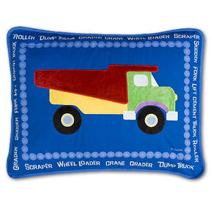Construction Red Dump Truck Pillow Sham