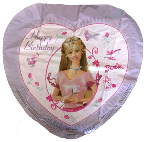 "Enchanting Barbie Happy Birthday Heart-Shaped 18"" Party Balloon"