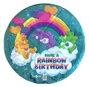 "CareBears Happy Rainbow Birthday 18"" Blue Prismatic Party Balloon"