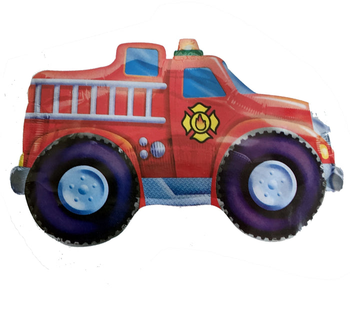 "Giant Red Fire Truck Jumbo Super-Shape 33"" Party Balloon"