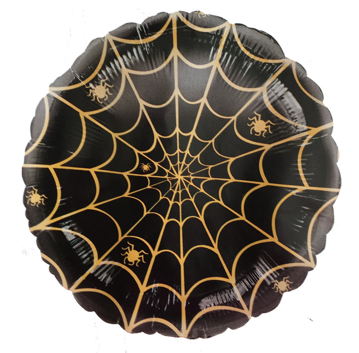 "Wicked Web Spiderweb Black Halloween 18"" Party Balloon"