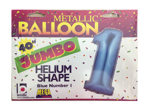 "Blue Number One 40"" Jumbo Super-Shape Helium Party Balloon"