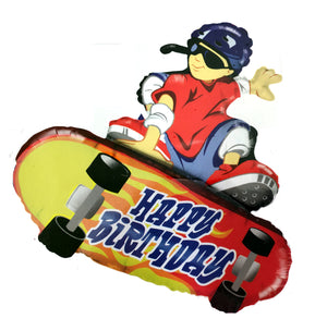 "Skateboard Birthday 38"" Jumbo Super-Shape Party Balloon"