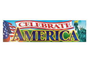 "Celebrate America Classroom or Wall Vertical Banner 4 ft 12"" x 45"""