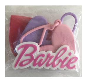 Enchanted Barbie Pink Dress Birthday Cake Party Topper Deco Set - 6pc Kit with Heart-Shaped Mirror Clips