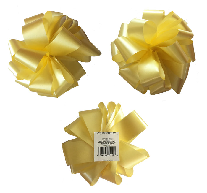 "Pull Gift Bows 5 1/2"" - Set of 3 - Yellow or White"