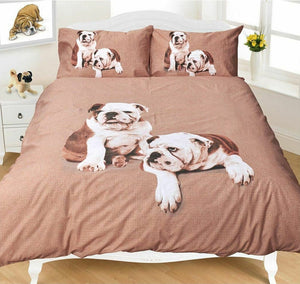 Boxer Dogs Twin Full Queen Duvet Cover / Comforter Cover Set
