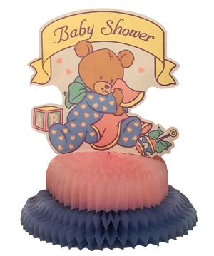 Baby Bear Baby Shower Honeycomb Paper Table Centerpiece 9 3/4""