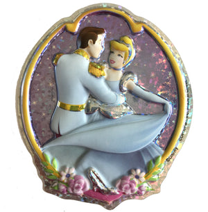 "Cinderella & Prince Holographic Cake Topper Party Pop Top Decoplac 4.25"" x 5"""