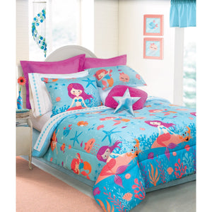 Sea Mermaids Girl Bedding Twin Full/Queen Comforter Set