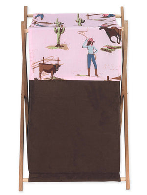 Cowgirl Pink Brown Laundry Hamper