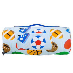 Sports Game Kids Sleeping Bag & Pillow Set for Boys
