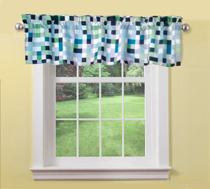 Minecraft Pixels Window Valance - Window Treatments