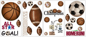 Sports Balls Wall Stickers Decals Boys Room Decor