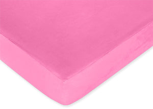 Pink Microsuede Baby Girl Fitted Crib or Toddler Sheet