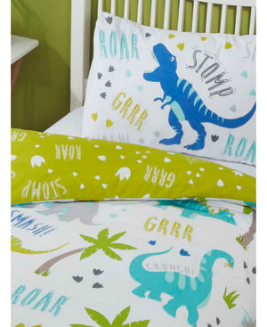 Roarsome Dinosaur Bedding Toddler & Twin Duvet Cover / Comforter Cover Set