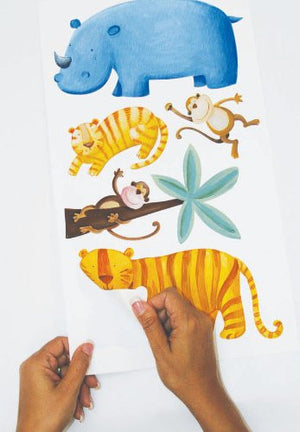 Jungle Adventure Safari Animals Wall Stickers Decals Kids Room Decor