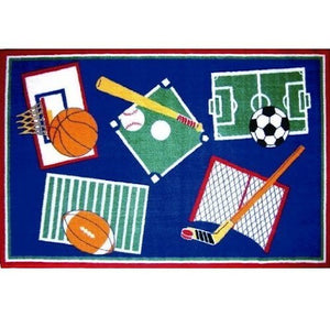 "All Sports Kids Accent Floor Rug 39"" x 58"""