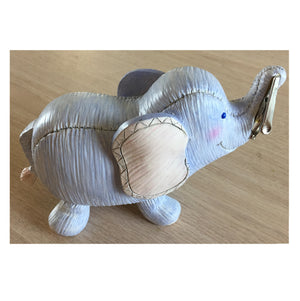 Little Suzy's Zoo Purple Ellie Elephant Keepsake Baby Clip Photo Holder