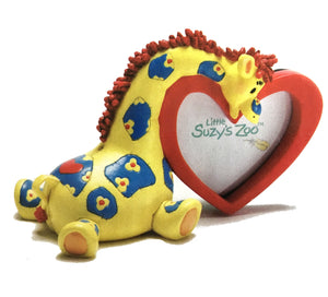 "Little Suzy's Zoo Patches Giraffe & Red Heart Keepsake Baby Photo Frame for 2.5"" x 2.5"" Photo"