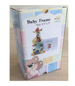 "Little Suzy's Zoo Patches Giraffe & Witzy Duck Keepsake Baby Photo Frame for 3.5"" x 5"" Photo"
