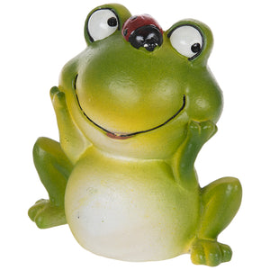 "Happy Frog 4"" Spring Resin Statue Decoration for Tier Tray Home or Garden"
