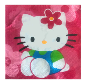 Hello Kitty Flower Fun Pink Small Beverage Party Napkins 16 CT