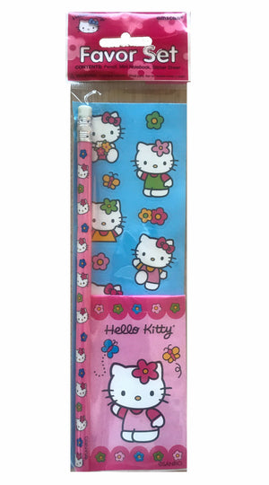 Hello Kitty Stickers / Note Pad / Pencil 3 PC Party Gift Favor Set