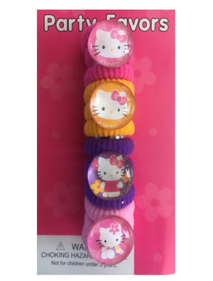Hello Kitty Birthday Party Favors 12 Pony O's Ponytail Hair Bands