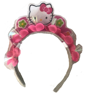 Hello Kitty Birthday Girl Party Tiara Silver & Pink
