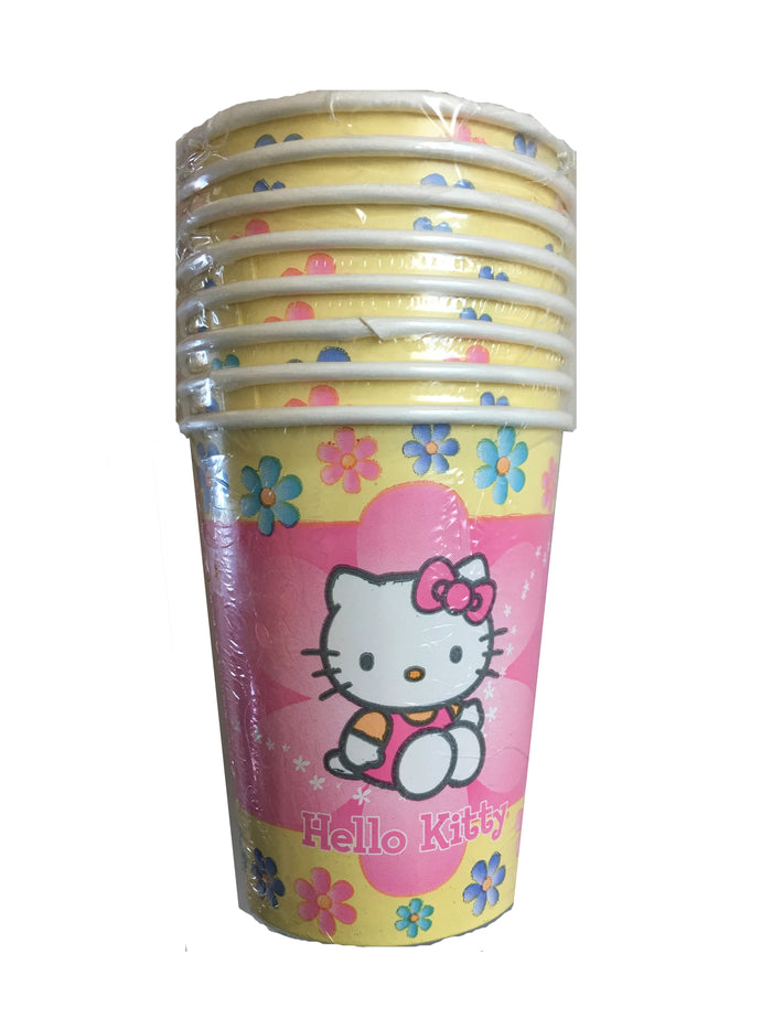 Hello Kitty Pastel Pink Flowers 9 oz Hot/Cold Cups 8 CT