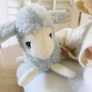 Precious Moments Angel Baby Boy Doll & Plush Lamb On a Cloud Musical Crib Toy 'Jesus Loves Me'