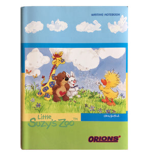 "Little Suzy's Zoo Blue Green School Composition Notebook - Lulla Bunny Witzy Duck Boof Bear Patches Giraffe 6"" x 7 3/4"""