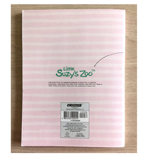 "Little Suzy's Zoo Pink Striped School Composition Notebook - Witzy Duck Patches Giraffe Lulla Bunny 6"" x 7 3/4"""