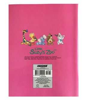 "Little Suzy's Zoo Pink School Composition Notebook - Lulla Bunny Witzy Duck Boof Bear Ellie Elephant 6"" x 7 3/4"""