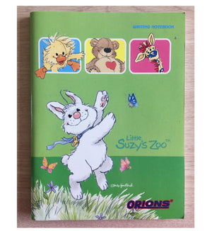 "Little Suzy's Zoo Green School Composition Notebook - Dancing Lulla Bunny Witzy Duck Boof Bear Patches Giraffe 6"" x 7 3/4"""