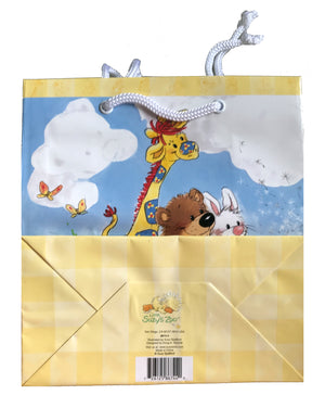 Little Suzy's Zoo Baby Animals Witzy's Wish & Clouds Medium Gift Bag Baby Shower / New Baby