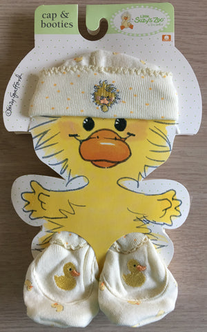 Little Suzy's Zoo Yellow Witzy Duck Cap & Booties Set