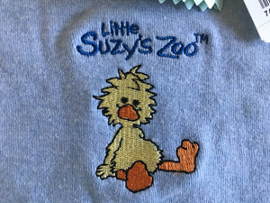 Little Suzy's Zoo Blue Witzy Duck Onesies Bodysuilt Baby Toddler 18-24 Months