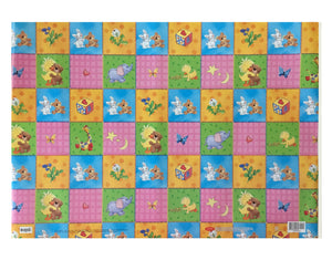 Little Suzy's Zoo Quilt Party Gift Wrapping Paper - Baby Witzy Duck Boof Bear Ellie Elephant Lulla Bunny Patches Giraffe