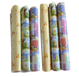 Little Suzy's Zoo Patchwork Party Gift Wrapping Paper - Baby Witzy Duck Boof Bear Ellie Elephant Lulla Bunny Patches Giraffe