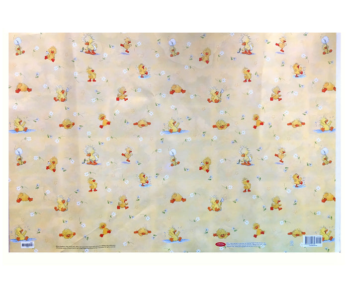 Little Suzy's Zoo Party Gift Wrapping Paper Yellow Witzy Duck - Birthday, Baby Shower, New Baby