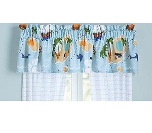 "Olive Kids Pirates Blue Valance 17"" x 83"""