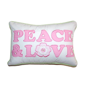 Peace Love Pink Pillow